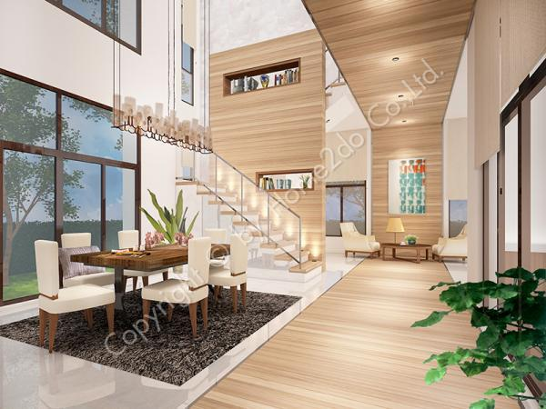 Design Homeplan : Tropical 305, Living Room