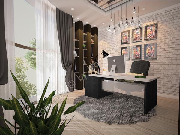 Design Homeplan : Tropical Modern 303, Workroom